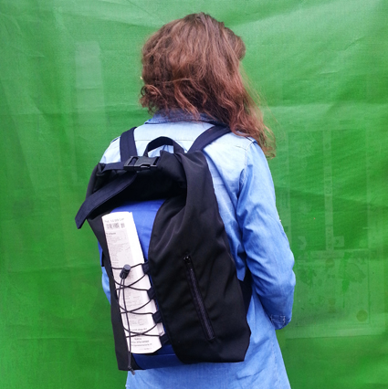 Black/Blue Urban Daypack